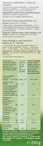Holle Papilla de Espelta (+4 meses) - Paquete de 6 x 250 gr ...