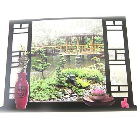 Amazon.com: Sticker trompe l\'oeil \'Jardin Zen\'(50x70 cm (0.00\'\'x27 ...