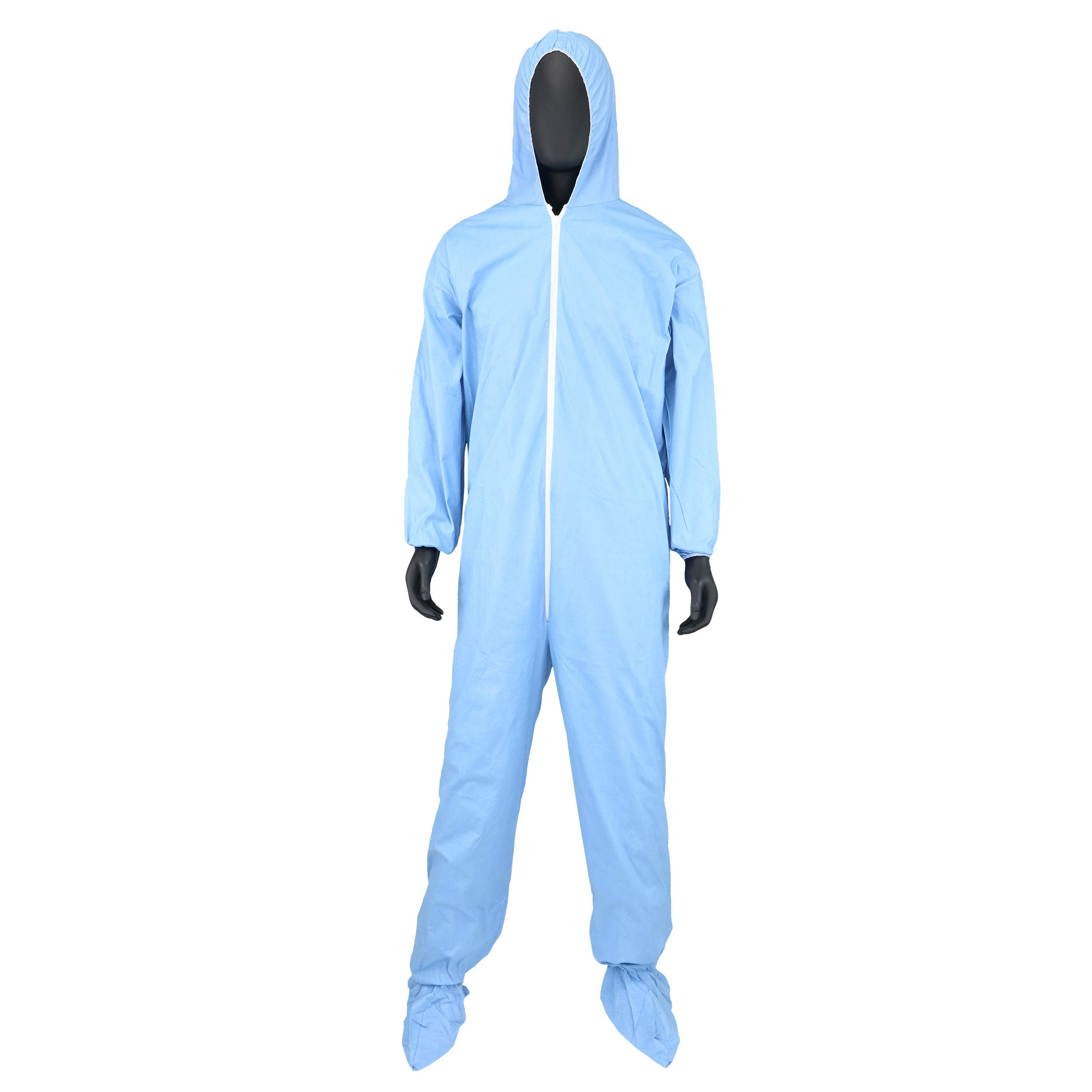 West Chester 3109/XL Posi FR Coverall Hood, Boot, Elastic Wrist & Ankle, XL, Blue (Box of 25)