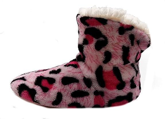 PICCOLI MONELLI Pantofole Peluche Bambina Invernali maculate ccalde  Invernali Chiuse Dietro a Stivaletto Alte tg 28-31 cm 20 Suola Esterna  Fuxia  Amazon.it  ... 8f3ac1a2729