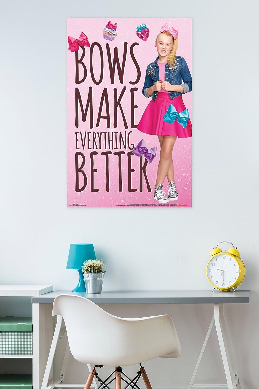 Trends International Wall Poster JoJo Siwa Bows 22.375 x 34 FR15560BLK22X34