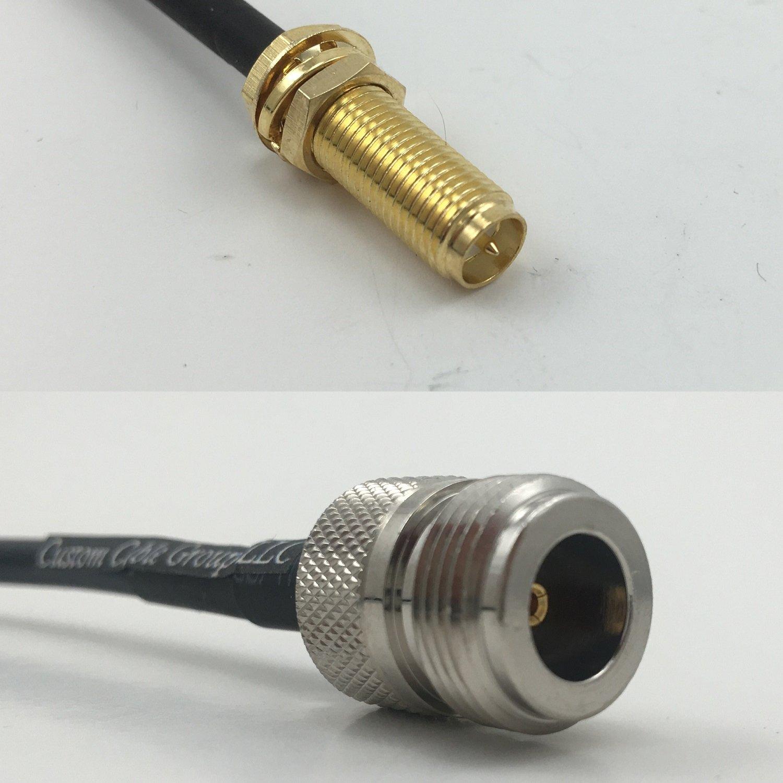 Cable coaxial RG174 RP-SMA Hembra de 30 cm de Largo a N ...
