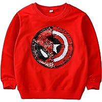 Niños Niñas Sudadera para niños Tops Manga Larga Cuello Redondo Jersey cálido (3-15 años)
