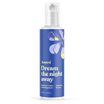 Asutra Dream the Night Away, Large Bottle of Magnesium & Melatonin Lotion for Calm,
