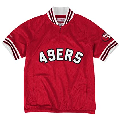 sale retailer 7fa40 6b462 Mitchell & Ness San Francisco 49ers NFL Championship Mesh Pullover Jacket