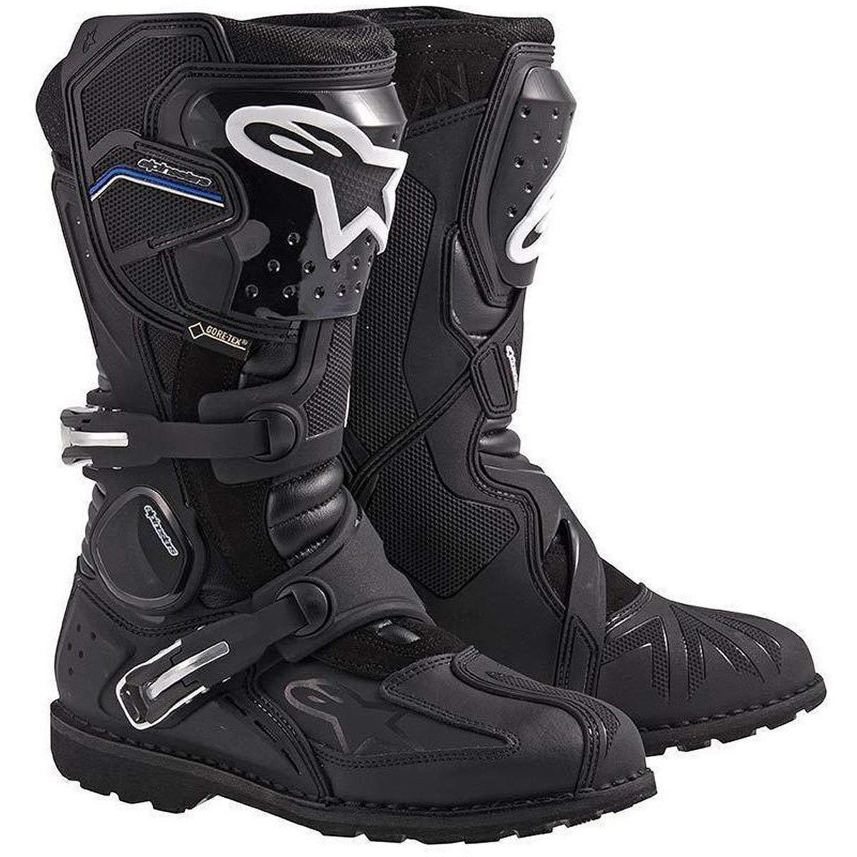 Alpinestars Toucan Gore-Tex Men's Weatherproof Motorcycle Touring Boots (Black, US Size 10)