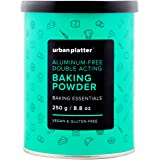 Urban Platter Aluminum-Free Baking Powder, 250g [Double Acting, Vegan, Gluten-free]