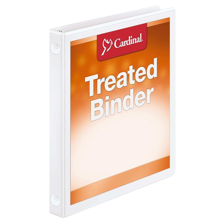 Tops cardenal antimicrobiana bloqueo ClearVue Ronda Carpeta de color cartón, color de blanco 3 Inch b3345b