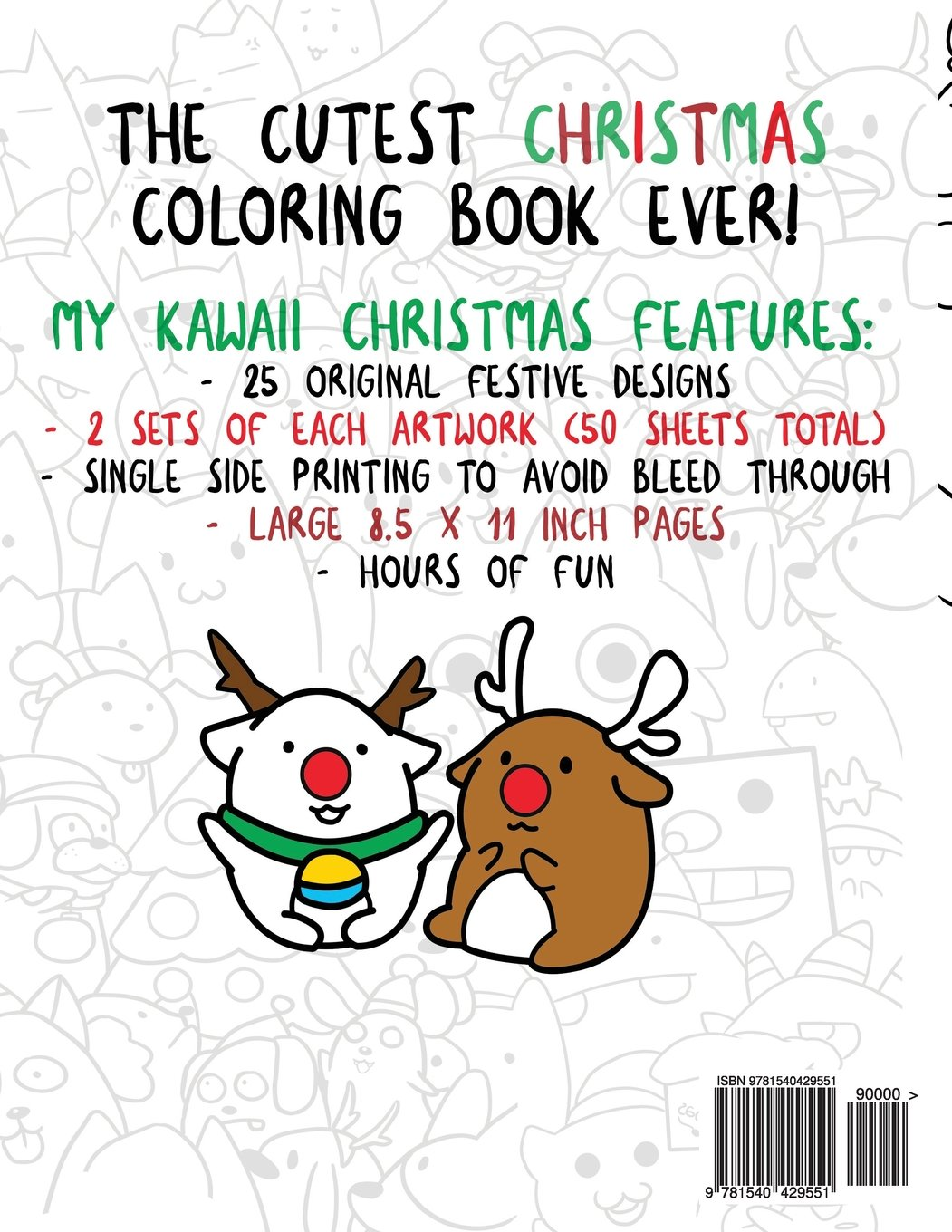 Amazon Com My Kawaii Christmas A Cute Coloring Book For The