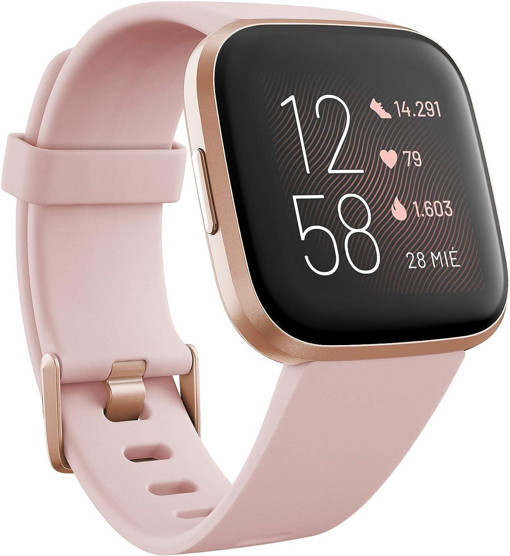 Fitbit Versa 2 - Smartwatch de salud y forma física, Rosa pétalo/rosa cobrizo, con Alexa integrada