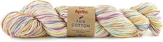 Katia Fair Cotton Hand Dyed FB. 701, Hilo de algodón orgánico Degradado, algodón orgánico, algodón orgánico Gots para Tejer o Ganchillo, 100 g de Hilo: Amazon.es: Hogar