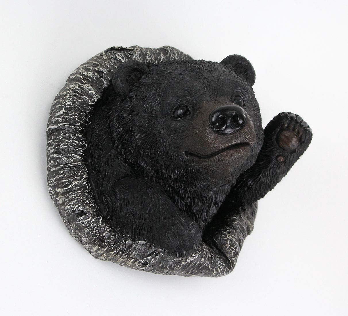 Amazon Com De Leon Collection Resin Black Waving Bear Tree Mounted Garden Decor Outdoor Statue Yard Ornament Garden Outdoor
