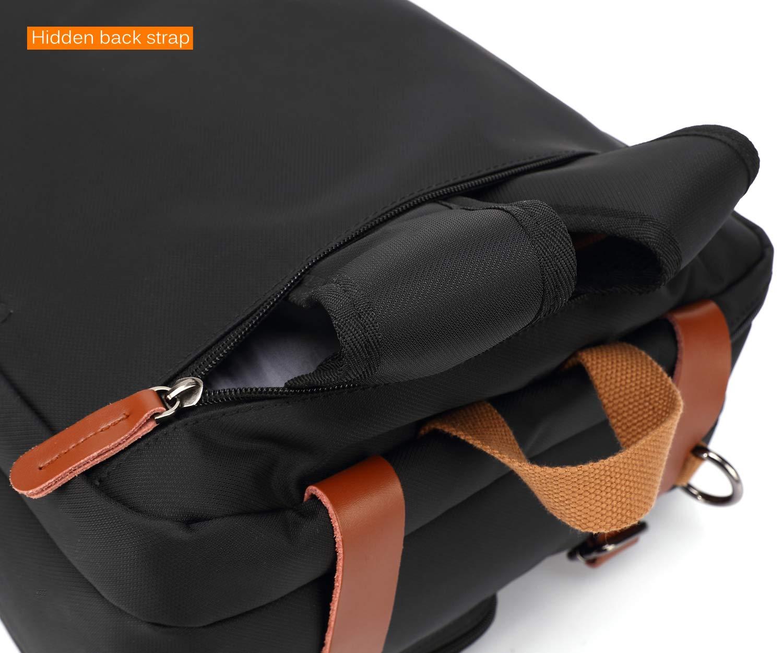 CoolBELL Convertible Backpack Messenger Bag Shoulder Bag Laptop Case Handbag Business Briefcase Multi-Functional Travel Rucksack Fits 15.6 Inch Laptop for Men/Women (Grey) by CoolBELL (Image #7)