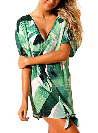 20a9df194b Lovefir Tie The Knot Beach Cover-up Swimsuit for Women at Amazon Women's  Clothing store: