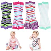 juDanzy Girl Stripes baby leg warmers 4 pack for babies, toddlers & children