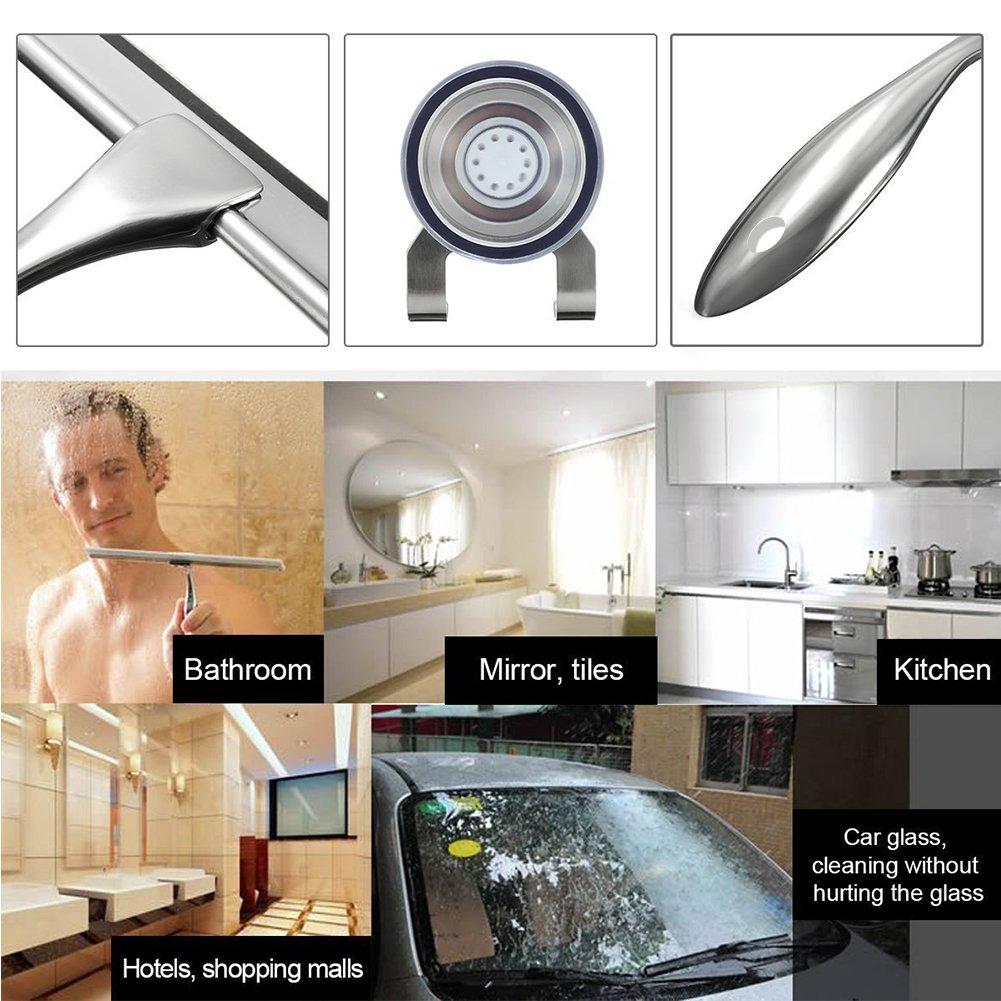 Espátula limpiacristales elegante para ducha y baño, herramienta de limpieza para ventana y espejo, rasqueta de limpieza con hoja para superficies de vidrio ...