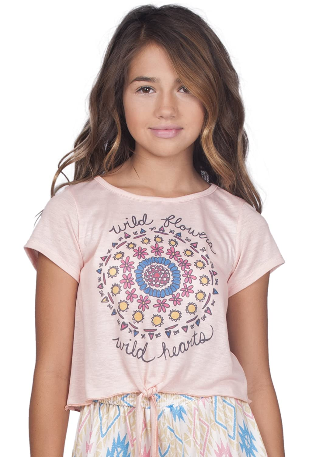 Love /& Sunflowers Girls Wild Flowers Tee