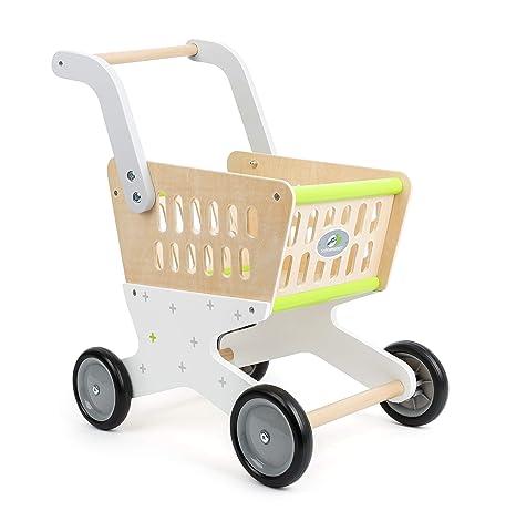 Small Foot Company Carro diseño de Moda de Madera Muy Bonito y Colorido, con Mango ergonómico ...