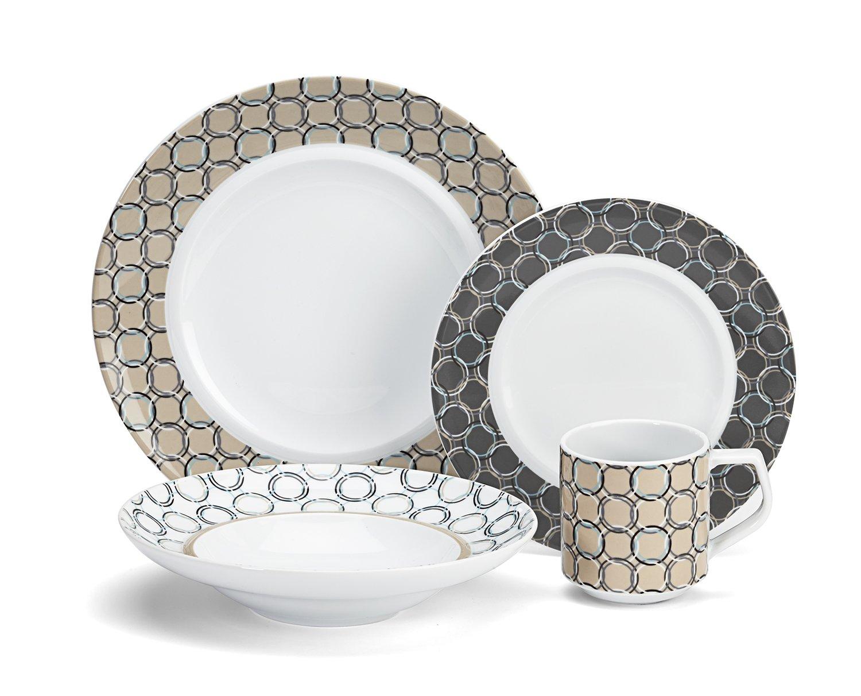 Cuisinart CDP01-S4C Chalais Collection 16-Piece Porcelain Dinnerware Set