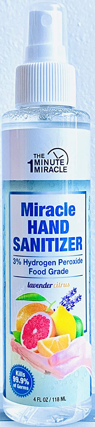 Miracle H2o2 - Hydrogen Peroxide Food Grade - 4 oz Spray - Hand Sanitizer
