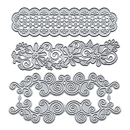Lace Background Frame Metal Cutting Dies Stencils For Card Making Decor Embossin