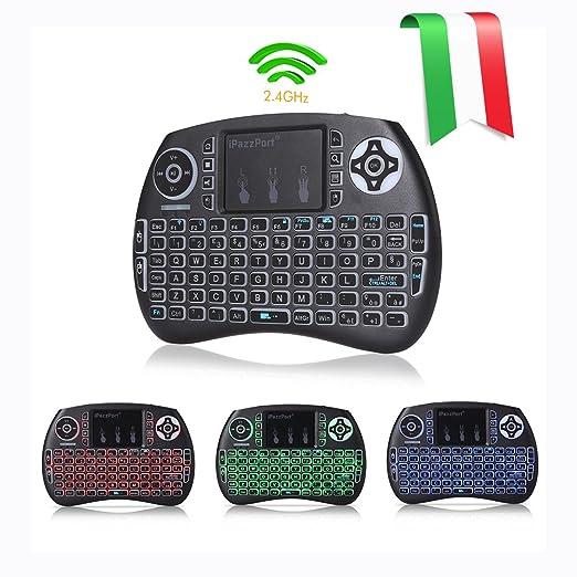 13 opinioni per Joyhero QWERTY Wireless Mini Tastiera(layout ITALIANO) Retroilluminata e Mouse