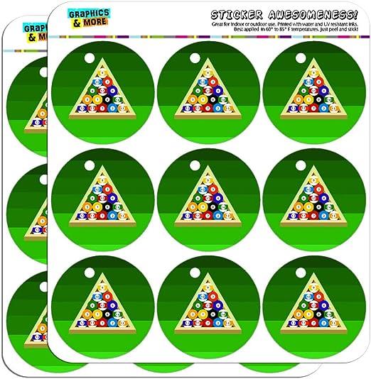 Bolas de billar y Triángulo mesa de billar 5 cm (2 pulgadas) álbumes de recortes manualidades pegatinas: Amazon.es: Hogar