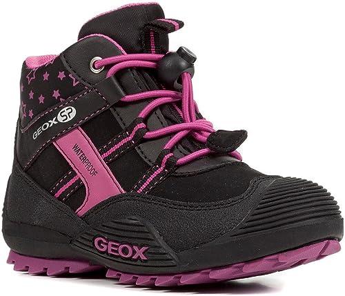 Geox J847HA Atreus WPF Mädchen Stiefel, Übergangsschuh, wasserdicht, Fleece Futter, atmungsaktiv, Wechselfußbett