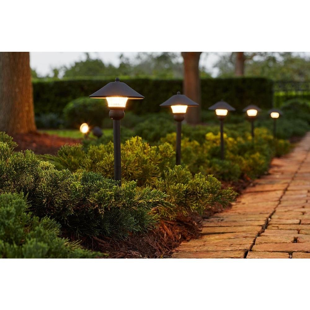 Low-Voltage LED Bronze Outdoor Light Kit (8-Pack) by Hampton Bay