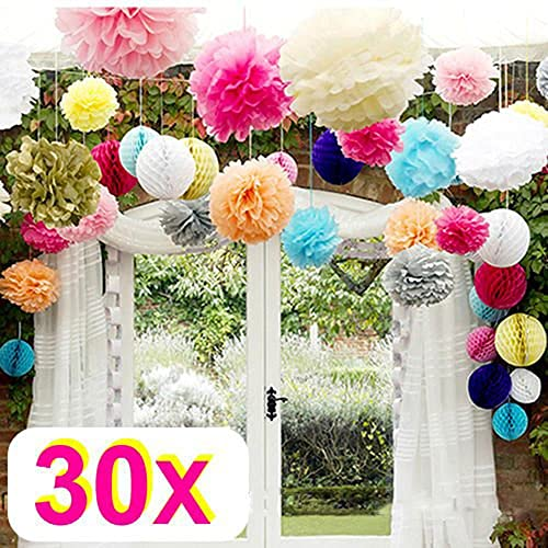 Life glow reusable hanging clover garland four leaf 36m long each rzctukltd 30 mix wedding decorations tissue paper pompoms 3 sizes party pom poms mightylinksfo