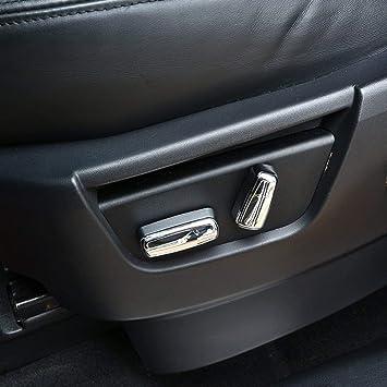 For Range Rover Evoque 2011-2015 ABS Car Seat Adjustment Button Cover Trim 4pcs