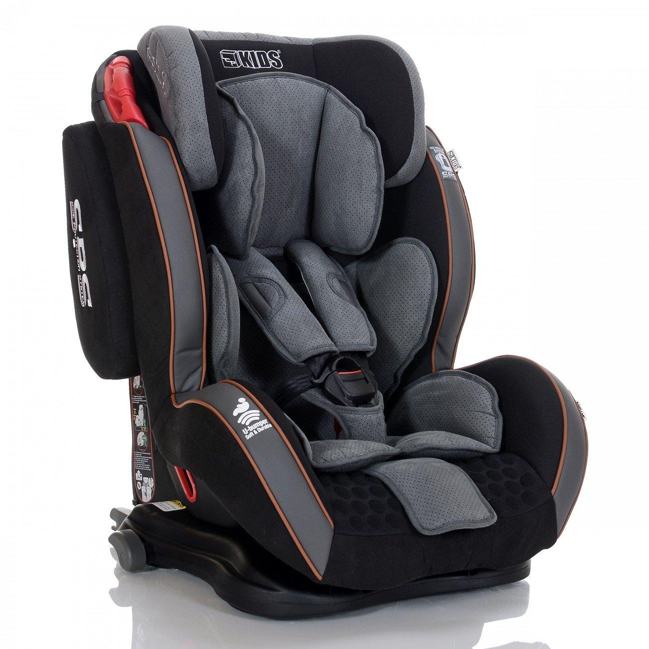 LCP Kids Auto-Kindersitz GT Isofix 9-36 kg mit Schlafposition; Farbe: Grau 34