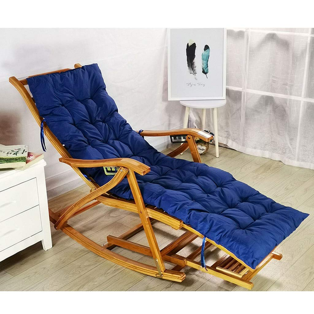 快適なリラックスロッキングチェア調節可能なリクライニングチェア大人用折りたたみ式ランチブレイクロッカー夏シエスタベッド付きアームレストとマッサージフットレスト (色 : 椅子) B07QYJHPYY Chair+mat f  Chair+mat f