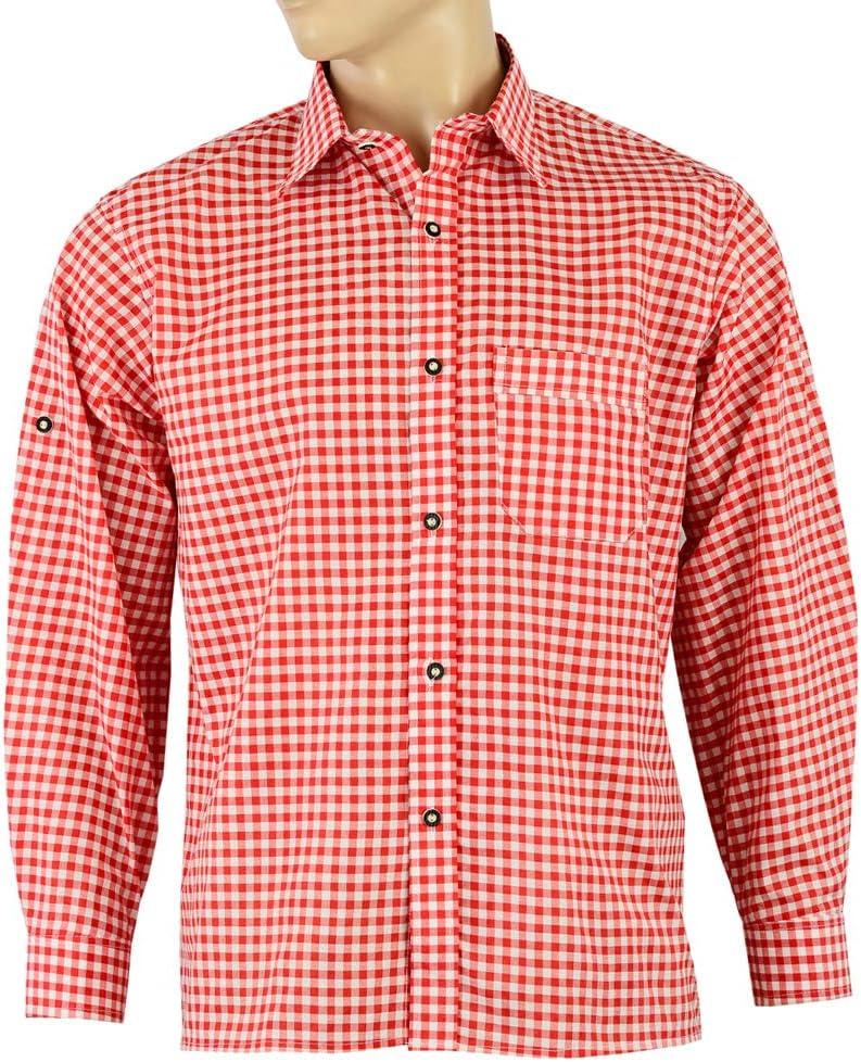 ATTONO - Camisa para traje regional para hombre: Amazon.es: Deportes y aire libre