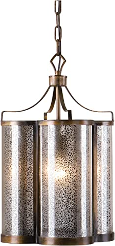 Uttermost 22061 Croydon 1 Light Mercury Glass Pendant