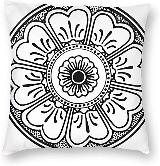 Amazon Com Shaogyhkyz Comfortable Simple Flower Full Printing Modern Polyester Fiber Square Pillowslip Home Kitchen