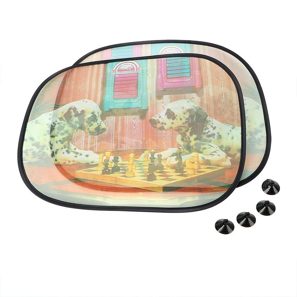 NOPNOG - Juego de 2 Cortinas de protección UV para Ventanas Laterales de Coche