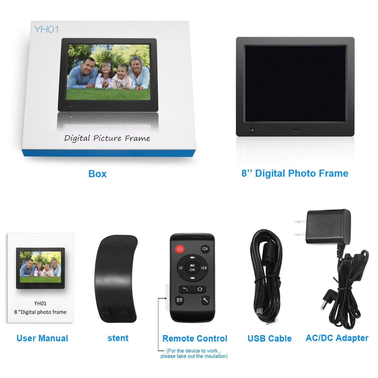 Amazon.com : Digital Picture Frame 8 inch Electronic Digital Photo ...