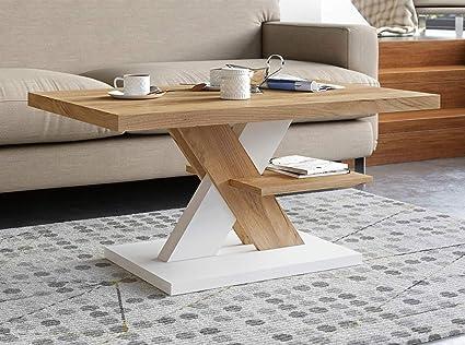 Tavolino Da Salotto Moderno Prezzi.Viosimc Tavolino Da Salotto Rovere Bianco Tavolini Da Salotto Moderni Con Un Ripiano Tavolino Soggiorno Elegante Complemento Di Qualsiasi Soggiorno 90x60x45cm Amazon It Casa E Cucina