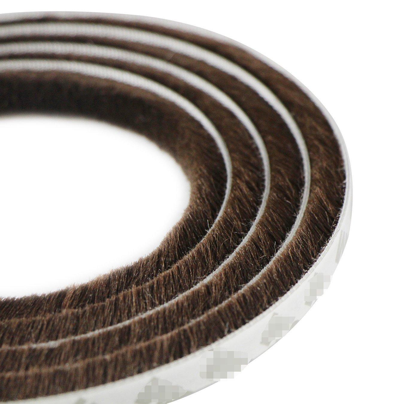 UOOOM 5 m a Prueba de Viento de Polvo Puerta Ventana Strip Pegatina de Sellado Cepillo Strip