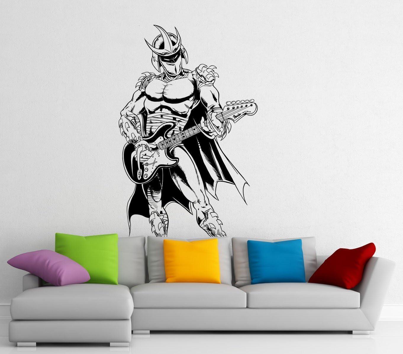 AdecalsNew Shredder TMNT Wall Decal Oroku Saki Vinyl Sticker Superhero Comic Book Home Interior Children Room Wall Decor (2s01r)