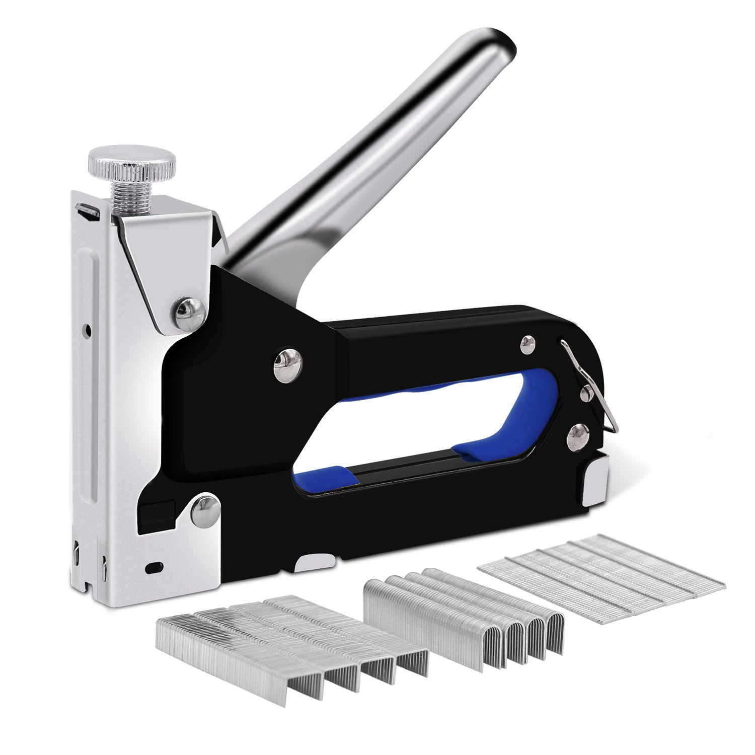 3 in 1 Staple Gun, Manual Heavy Duty Nail Gun, Tool for Fixing Material, Decoration, Carpentry, Furniture, Doors and Windows, Billboards