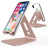 OMOTON Support Téléphone Portable, Stand/Support De Bureau Pour E-readers, iPhone 7 5S 6S,7 Plus, Huawei, Samsung A3 A5 S7 S8 Note 8 , Nintendo Switch En Aluminium - Rose D'or