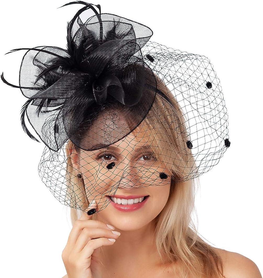 1920s Fascinator Hat for Women Tea Party Wedding Kenturky Derby Headband TF1909