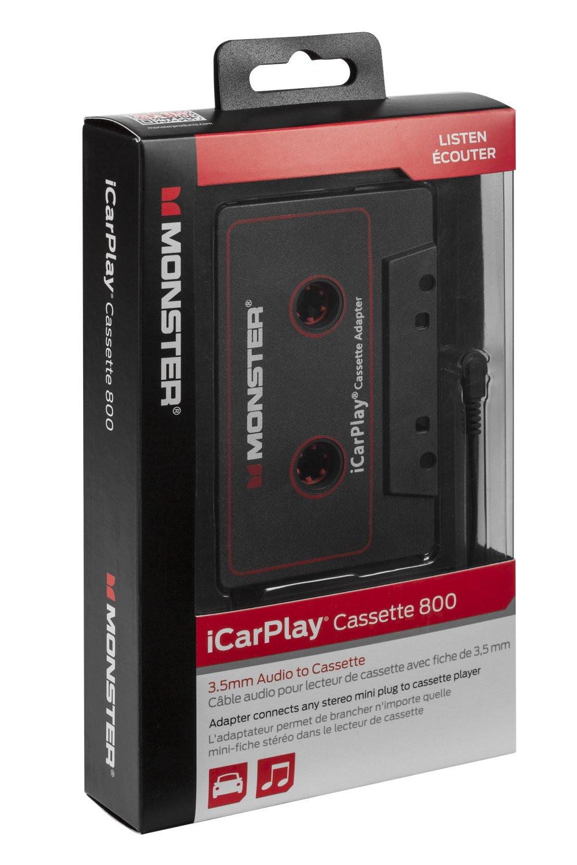 Monster MBL 800 CAS-ADPT V2 WW High Performance 800 Cassette Adapter to 1/8'' Mini 3 Feet
