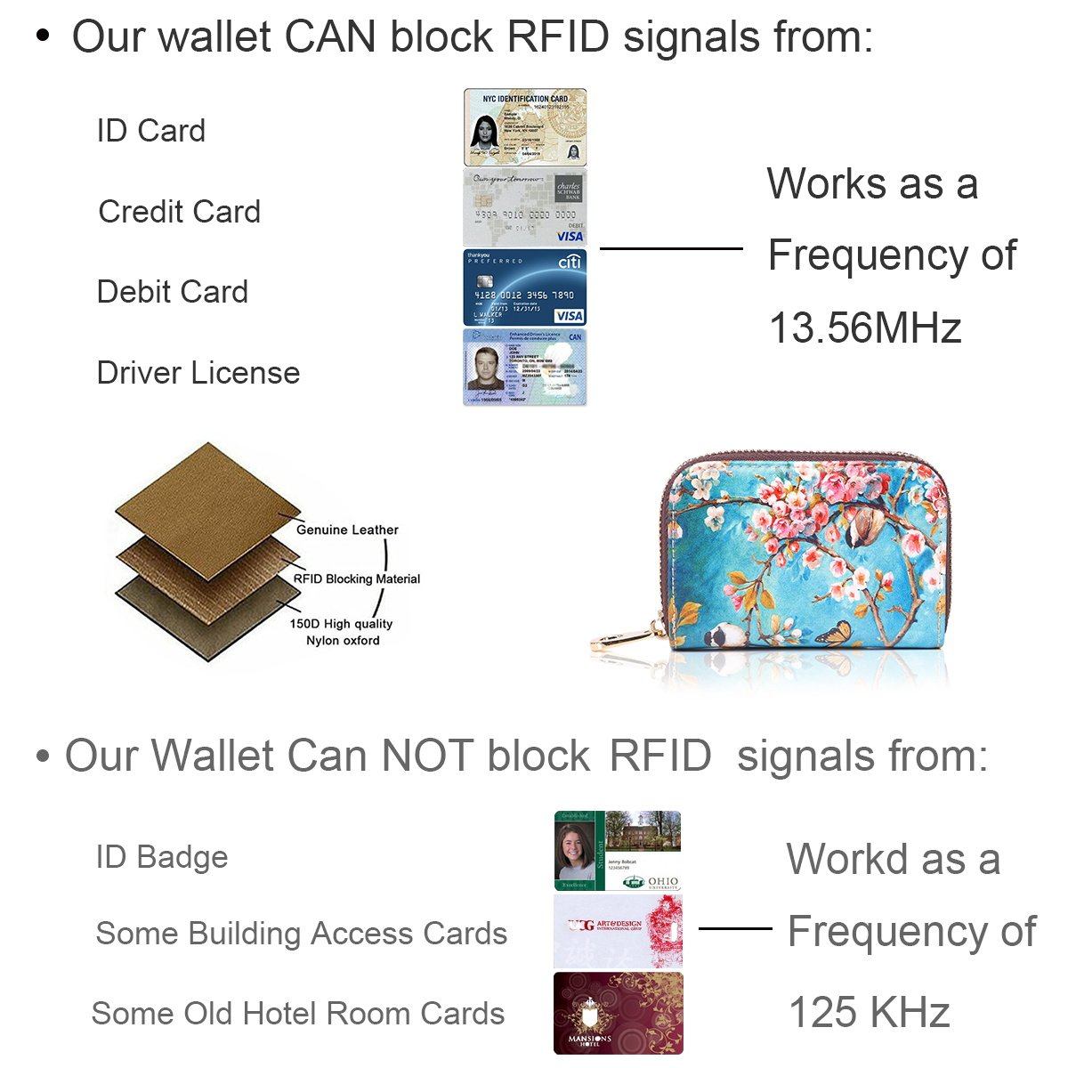 APHISON RFID Credit Card Holder Wallets for Women Leather Cartoon Patterns Zipper Card Case for Ladies Girls/Gift Box 010 by APHISON (Image #8)