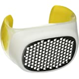 Chef'n Palm Zester/Citrus Zester Grater with Stainless Steel Blades, Yellow