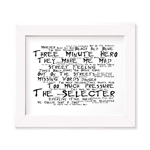 Fun House Lyrics Gift Signed Art The Stooges Poster Print