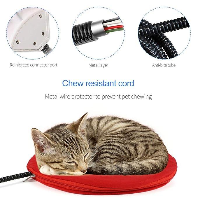 PETCUTE Manta Eléctrica para Perros Cojín de Calefacción para Mascotas Almohadilla de Calentamiento para Perros y Gatos con Temperatura Constante Automática ...