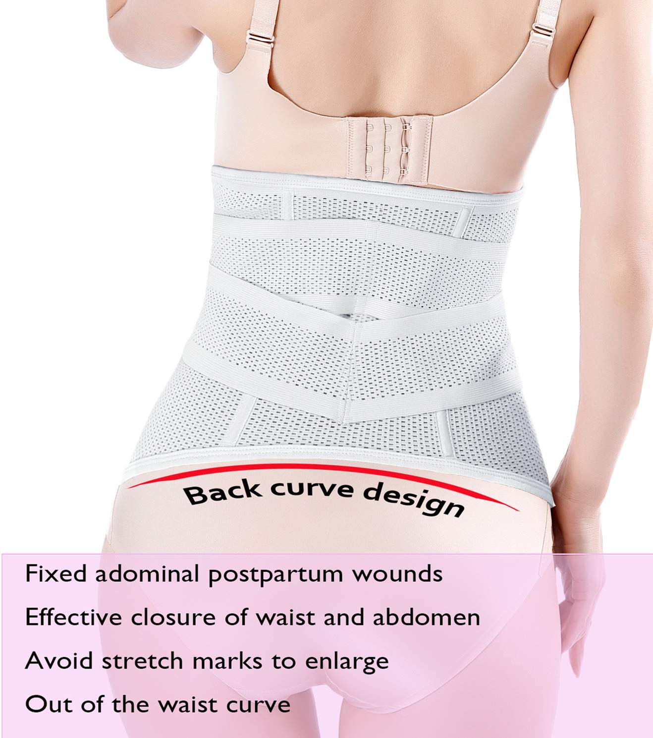 Postpartum Belly Wrap C section Recovery Belt Belly Band Binder Back Support Waist Shapewear